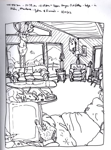 Sketchbook R 23 - Upper Canyon Outfitters, Alder, MT
